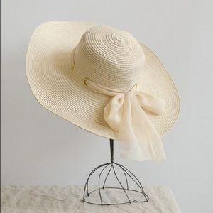 Straw Sun Hat with Bow